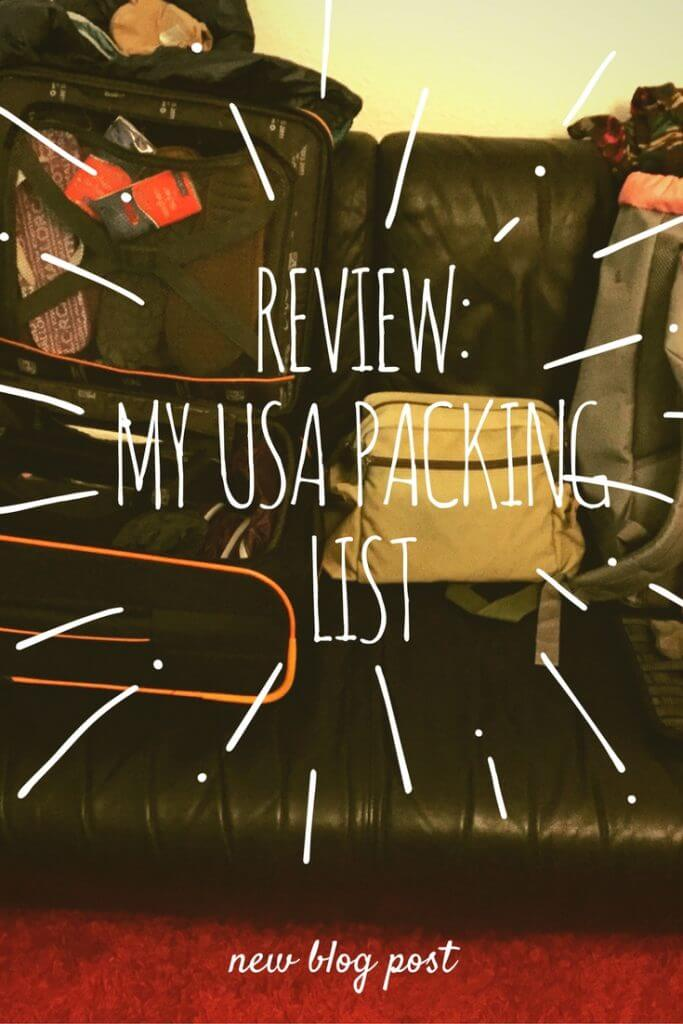 Review: My USA packing list